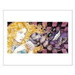 Alice & Cheshire (light) Small Poster