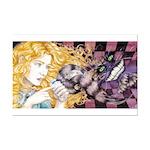 Alice & Cheshire (light) Mini Poster Print