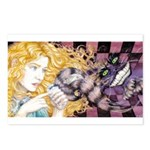 Alice & Cheshire (light) Postcards (Package of 8)