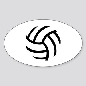 Volleyball Sticker (Oval)