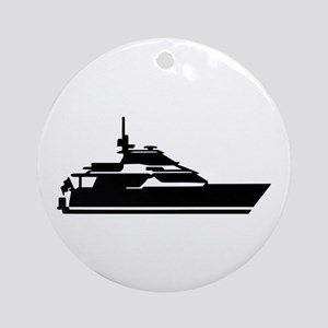 Boat - yacht Ornament (Round)