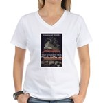 """Nation Of Sheep"" Women's V-Neck T-S"