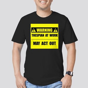 Thespian At Work Men's Fitted T-Shirt (dark)