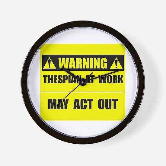 Thespian At Work Wall Clock