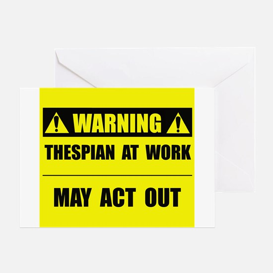 Thespian At Work Greeting Card