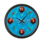 Wipeout Large Wall Clock