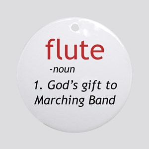 Flute Definition Ornament (Round)