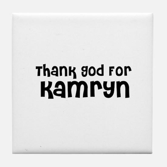 Thank God For Kamryn Tile Coaster