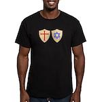 Zionist Crusader Men's Fitted T-Shirt (dark)