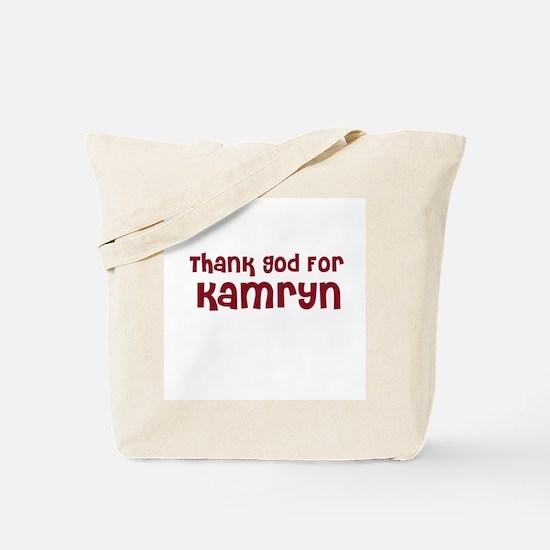 Thank God For Kamryn Tote Bag