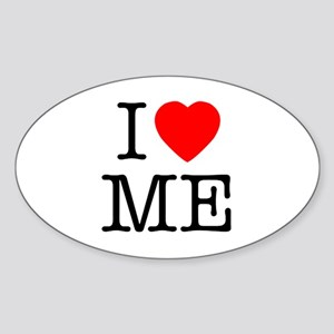 I Heart Me Oval Sticker