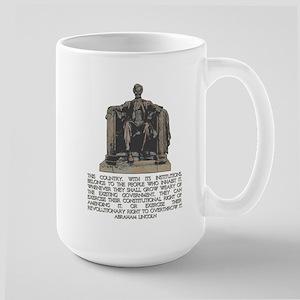 Lincoln on Revolutionary Right Large Mug