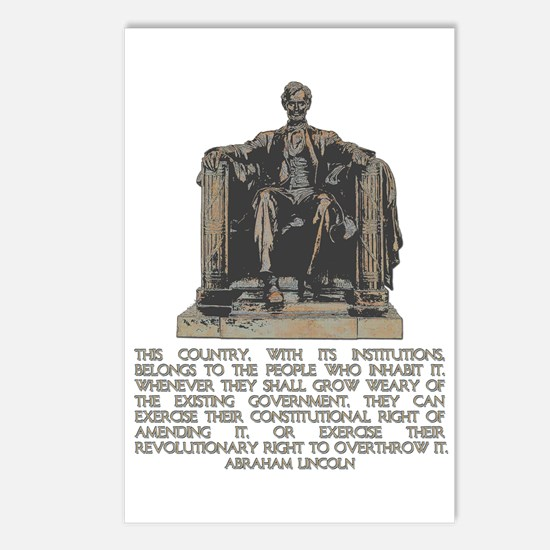Lincoln on Revolutionary Right Postcards (Package