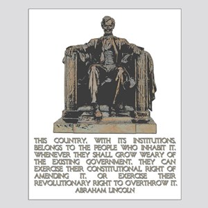 Lincoln on Revolutionary Right Small Poster