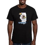 ILY Illinois Men's Fitted T-Shirt (dark)