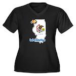 ILY Illinois Women's Plus Size V-Neck Dark T-Shirt