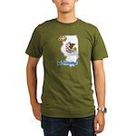 ILY Illinois Organic Men's T-Shirt (dark)