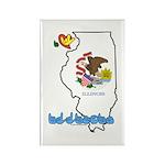 ILY Illinois Rectangle Magnet (10 pack)