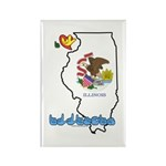 ILY Illinois Rectangle Magnet (100 pack)