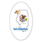 ILY Illinois Sticker (Oval 10 pk)
