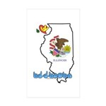 ILY Illinois Sticker (Rectangle 10 pk)