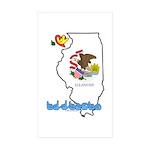 ILY Illinois Sticker (Rectangle 50 pk)
