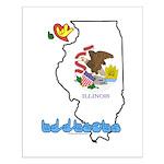 ILY Illinois Small Poster