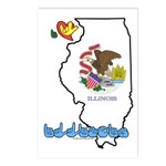 ILY Illinois Postcards (Package of 8)