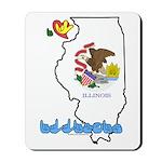 ILY Illinois Mousepad