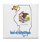 ILY Illinois Tile Coaster