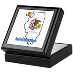 ILY Illinois Keepsake Box