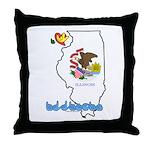 ILY Illinois Throw Pillow