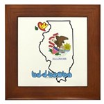 ILY Illinois Framed Tile