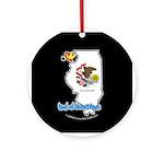ILY Illinois Ornament (Round)