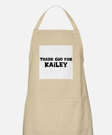 Thank God For Kailey BBQ Apron