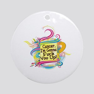 F Up Cancer Ornament (Round)