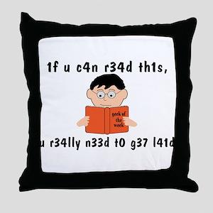 Geek Of The Week Throw Pillow