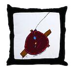 Artsy Clock Throw Pillow