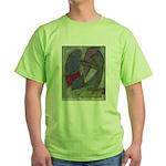 Warrior's Kidney Pastel Work Green T-Shirt