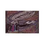 Pastel Work Rectangle Magnet (10 pack)