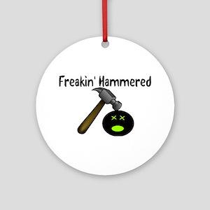 Freakin Hammered Ornament (Round)