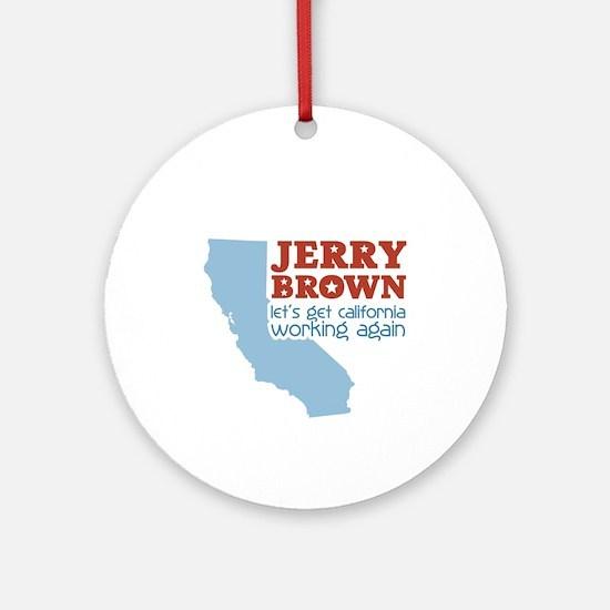 Brown California Ornament (Round)