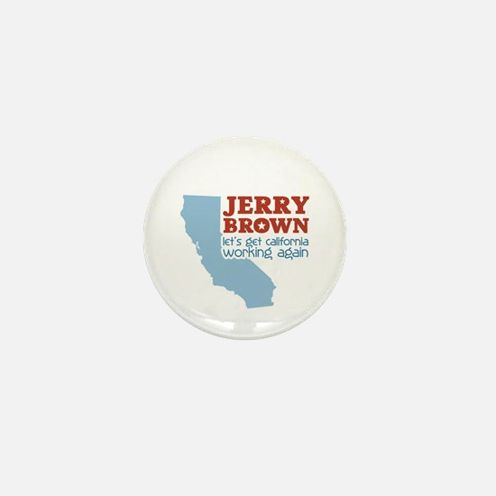 Brown California Mini Button