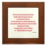 Philosophical Quote Framed Tile