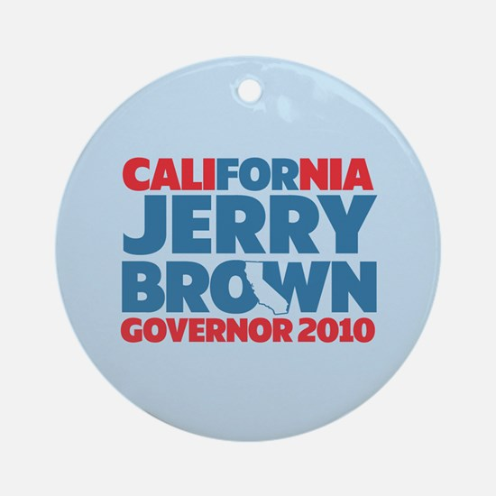 For Jerry Brown Ornament (Round)