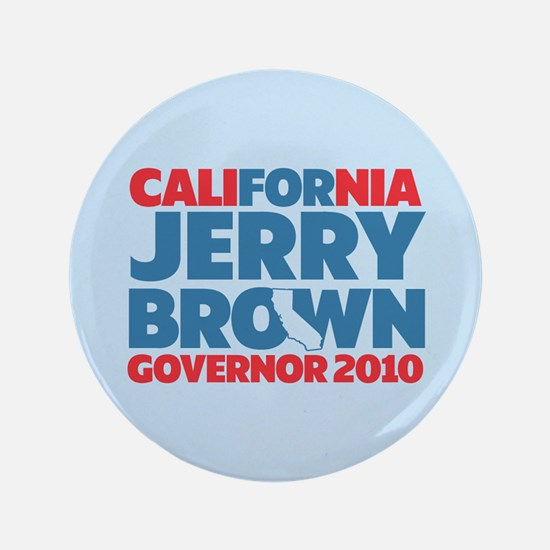 "For Jerry Brown 3.5"" Button"