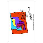 Cubist Man Large Poster