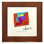 Cubist Man Framed Tile