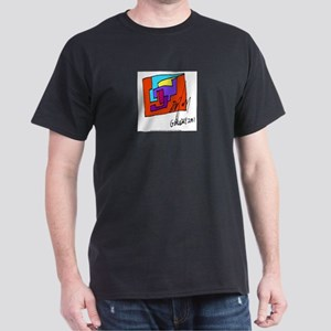 Cubist Man Black T-Shirt
