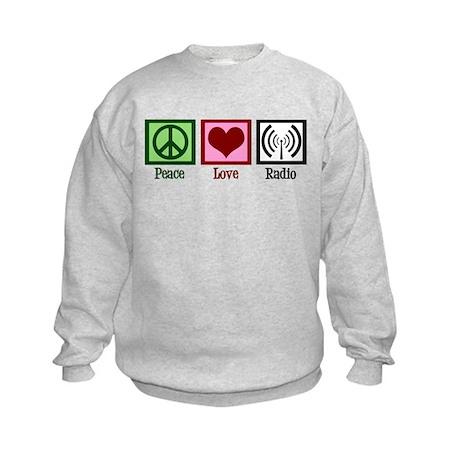 Peace Love Radio Kids Sweatshirt